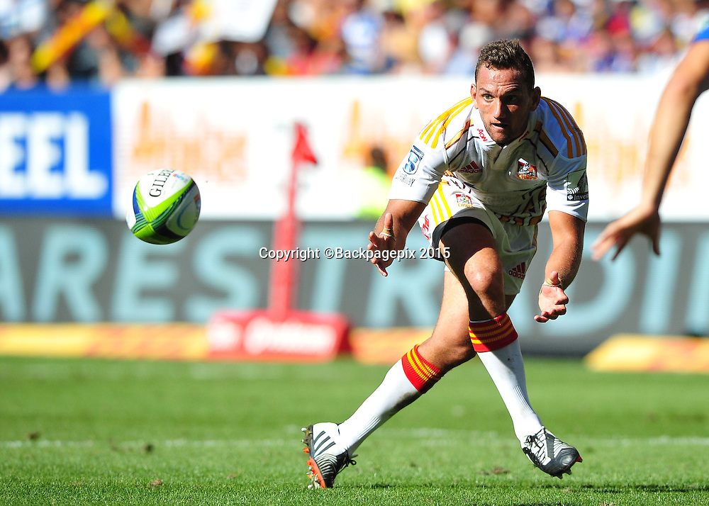 Aaron Cruden of the Chiefs during the 2015 Super Rugby game between the Stormers and the Chiefs at Newlands Stadium, Cape Town on 14 March 2015 ©Ryan Wilkisky/BackpagePix
