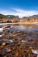Big Thompson River in Late Fall / Early Winter, Rocky Mountains National Park, Colorado