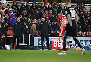 Paul Heckingbottom Head Coach of Leeds United during the EFL Sky Bet Championship match between Middlesbrough and Leeds United at the Riverside Stadium, Middlesbrough, England on 2 March 2018. Picture by Paul Thompson.
