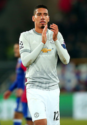 Chris Smalling of Manchester United - Mandatory by-line: Robbie Stephenson/JMP - 22/11/2017 - FOOTBALL - St Jakob-Park - Basel,  - FC Basel v Manchester United - UEFA Champions League Group A