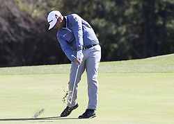 October 20, 2018 - Jeju, SOUTH KOREA - Oct 20, 2018-Jeju, South Korea-CHEZ REAVIE of USA action on the 6th green during the PGA Golf CJ Cup Nine Bridges Round 3 at Nine Bridges Golf Club in Jeju, South Korea. (Credit Image: © Ryu Seung-Il/ZUMA Wire)