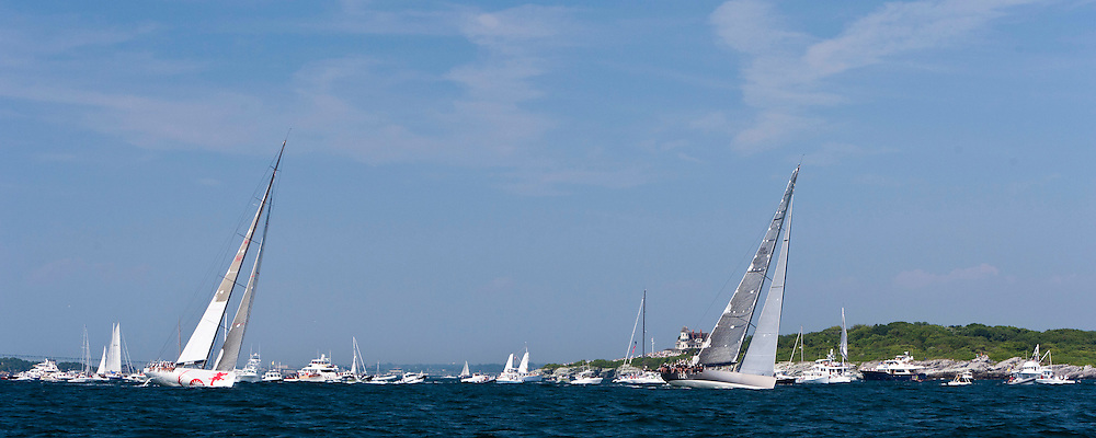 Beau Geste and Ran, class 10, sailing at the start of the Newport Bermuda Race 2010. The race began in Newport, Rhode Island on June 18, 2010.