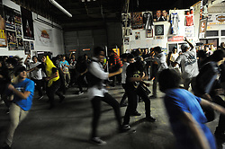 "The center of the room is a whirl during Asterion's set at ""Nightmare on Alisal Street,"" a boisterous five-band metal show put on by independent Salinas organizers on Saturday, October 19th at Rock Boxing Gym."