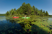 Kayaking on Lake Wicwas.  ©2012 Karen Bobotas Photographer