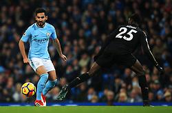 Ilkay Gundogan of Manchester City takes on Wilfred Ndidi of Leicester City - Mandatory by-line: Matt McNulty/JMP - 10/02/2018 - FOOTBALL - Etihad Stadium - Manchester, England - Manchester City v Leicester City - Premier League
