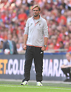 Manager of Liverpool Jurgen Klopp during the International Champions Cup match against FC Barcelona at Wembley Stadium, London<br /> Picture by Andrew Timms/Focus Images Ltd +44 7917 236526<br /> 06/08/2016