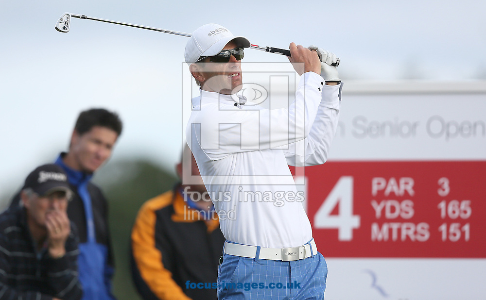 Picture by Paul Gaythorpe/Focus Images Ltd +447771 871632<br /> 06/10/2013<br /> Steen Tinning on the 14th tee during the final round of the English Senior Open at Rockliffe Hall, Darlington.