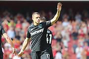West Ham United striker Javier Hernandez (17) during the Premier League match between Arsenal and West Ham United at the Emirates Stadium, London, England on 22 April 2018. Picture by Bennett Dean.