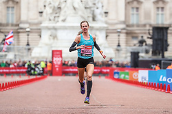Molly Huddle , USA, finishes London Marathon in 2:26:33 for 12th place