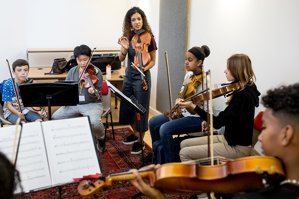 The Sistema England Young Leaders are the most skilled and committed young musicians from In Harmony Lambeth, In Harmony Liverpool, In Harmony Newcastle, In Harmony Telford, Sistema in Norwich and The Nucleo Project, coming together to create a vibrant nationwide orchestra while developing leadership and life skills. Winchester,<br />