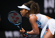 Naomi Osaka of Japan in action during the first round of the 2020 Australian Open, WTA Grand Slam tennis tournament on January 20, 2020 at Melbourne Park in Melbourne, Australia - Photo Rob Prange / Spain ProSportsImages / DPPI / ProSportsImages / DPPI