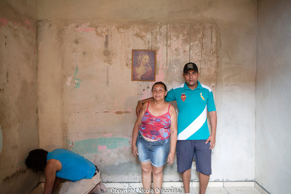 Rafael Teixeira and his mum, Complexo do Alemão 2013.<br />