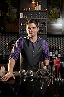 T.J. Vytlacil, master bartender and mixologist at Blood and Sand in St. Louis, MO.