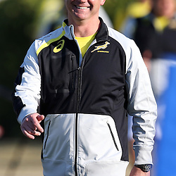 DURBAN, SOUTH AFRICA - JUNE 09: Springbok coach Heyneke Meyer during the South African National rugby team training session at Northwood High School on June 09, 2014 in Durban, South Africa. (Photo by Steve Haag/Gallo Images)