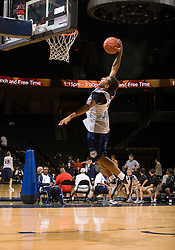 PG Phillip Pressey (Ashburnham, MA / Cushing Academy) leaps for an open dunk.  The NBA Player's Association held their annual Top 100 basketball camp at the John Paul Jones Arena on the Grounds of the University of Virginia in Charlottesville, VA on June 19, 2008