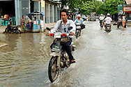 Streets od Mandalay flooded by monsoon rain