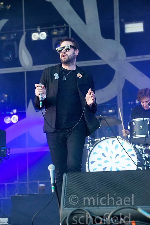 Kasabian headline the main stage on Saturday at TRNSMT music festival, Glasgow Green.