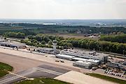 Nederland, Limburg, Maastricht, 27-05-2013; Vliegveld Beek, Maastricht Aachen Airport. Stationsgebouw - Terminal building.<br /> luchtfoto (toeslag op standaardtarieven);<br /> aerial photo (additional fee required);<br /> copyright foto/photo Siebe Swart.