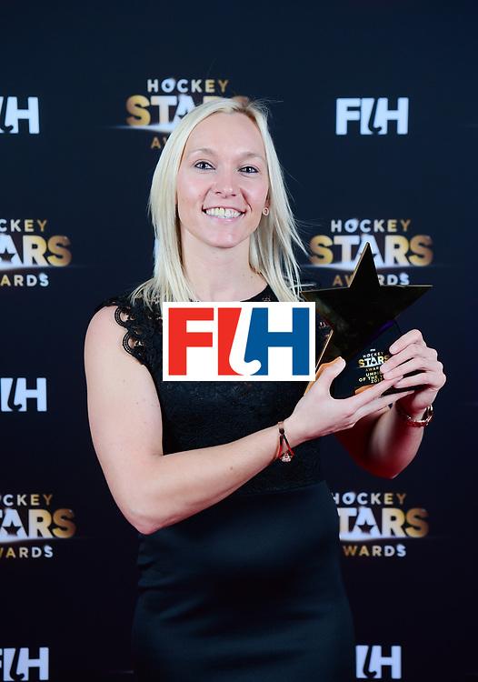 BERLIJN - FIH Hockey Stars Awards<br /> Foto: Best Umpire<br /> Sarah Wilson<br /> WORLDSPORTPICS COPYRIGHT FRANK UIJLENBROEK