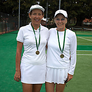 Petro Kruger, South Africa, (left) and Heide Orth, Germany, Winners, 65 Womens Doubles during the 2009 ITF Super-Seniors World Team and Individual Championships at Perth, Western Australia, between 2-15th November, 2009.