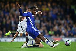 Michy Batshuayi of Chelsea under pressure from Sebastian Prodl of Watford - Mandatory by-line: Jason Brown/JMP - 15/05/2017 - FOOTBALL - Stamford Bridge - London, England - Chelsea v Watford - Premier League