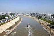 Foto das obras da Calha do Rio Tietê. Foto:Daniel Guimarães/Ritratto
