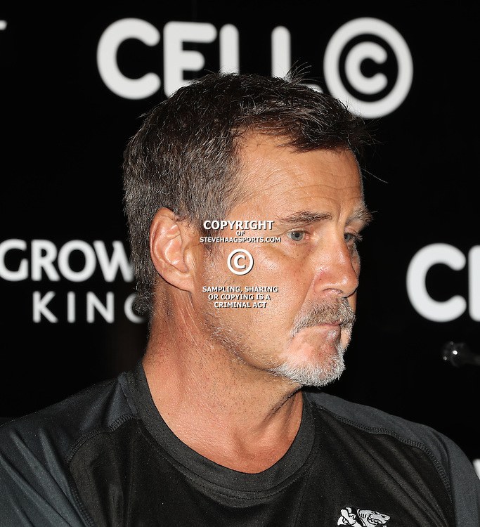 DURBAN, SOUTH AFRICA - FEBRUARY 02: Robert du Preez (Head Coach) of the Cell C Sharks during the Super Rugby Cell C Sharks press conference at Growthpoint Kings Park on February 02, 2017 in Durban, South Africa. (Photo by Steve Haag/Gallo Images)