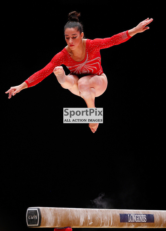 2015 Artistic Gymnastics World Championships being held in Glasgow from 23rd October to 1st November 2015...Alexandra Raisman (USA) competing in the Balance Beam competition of the Women's Team Final...(c) STEPHEN LAWSON | SportPix.org.uk