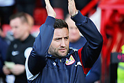 Bristol City manager Lee Johnson clapping the fans before the EFL Sky Bet Championship match between Sheffield United and Bristol City at Bramall Lane, Sheffield, England on 30 March 2019.