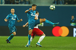 November 5, 2019, St. Petersburg, Russia: Russian Federation. Saint-Petersburg. Gazprom Arena. Football. UEFA Champions League. Group G. round 4. Football club Zenit - Football Club RB Leipzig. Player of Zenit football club Douglas Santos  (Credit Image: © Russian Look via ZUMA Wire)