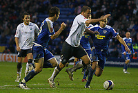 Photo: Steve Bond/Sportsbeat Images.<br /> Leicester City v West Bromwich Albion. Coca Cola Championship. 08/12/2007. Roman Bednar (centre R) tries to burst through the Leicester defence