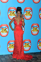 Sinitta arrives at the show.<br /> Celebrities attend the opening night of new West End show 'I Can't Sing' at The London palladium, London, UK. Wednesday, 26th March 2014. Picture by Ben Stevens / i-Images