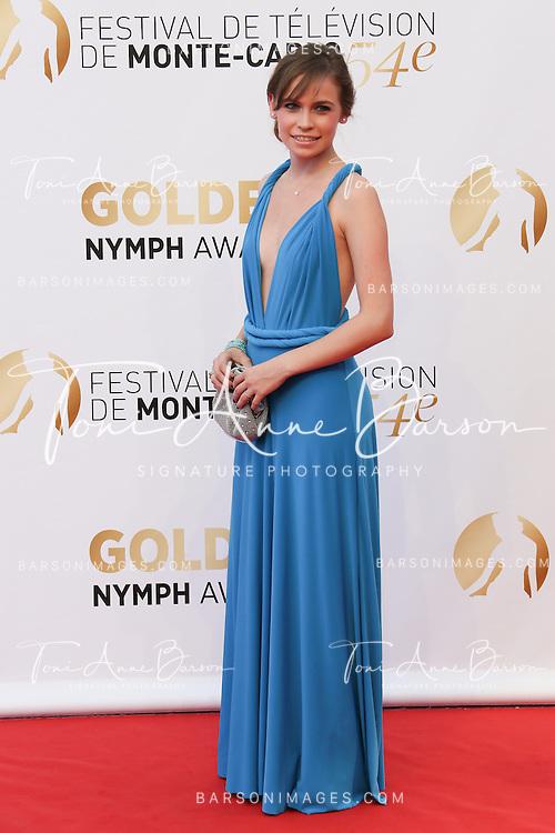 MONTE-CARLO, MONACO - JUNE 11:  Arianna Jacchia attends the Closing Ceremony and Golden Nymph Awards of the 54th Monte Carlo TV Festival on June 11, 2014 in Monte-Carlo, Monaco.  (Photo by Tony Barson/FilmMagic)