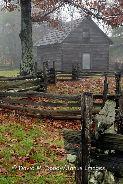 """Puckett Cabin on Blue Ridge Parkway. Home of the legendary midwife """"Aunt Orelena Puckett, who delivered over 1000 babies in the course of her 102 year life."""