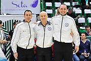 DESCRIZIONE : Beko Legabasket Serie A 2015- 2016 Dinamo Banco di Sardegna Sassari - Manital Auxilium Torino<br /> GIOCATORE : Paolo Taurino Carmelo Lo Guzzo Manuel Mazzoni <br /> CATEGORIA : Arbitro Referee Before Pregame Ritratto<br /> SQUADRA : AIAP<br /> EVENTO : Beko Legabasket Serie A 2015-2016<br /> GARA : Dinamo Banco di Sardegna Sassari - Manital Auxilium Torino<br /> DATA : 10/04/2016<br /> SPORT : Pallacanestro <br /> AUTORE : Agenzia Ciamillo-Castoria/C.Atzori