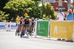 Grace Brown (AUS) leads the bunch at Santos Women's Tour Down Under 2019 - Stage 4, a 42.5 km road race in Adelaide, Australia on January 13, 2019. Photo by Sean Robinson/velofocus.com