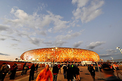 11.07.2010, Soccer-City-Stadion, Johannesburg, RSA, FIFA WM 2010, Finale, Niederlande (NED) vs Spanien (ESP) im Bild Aussenansicht Feature des Soccer City Stadions, EXPA Pictures © 2010, PhotoCredit: EXPA/ InsideFoto/ Perottino *** ATTENTION *** FOR AUSTRIA AND SLOVENIA USE ONLY! / SPORTIDA PHOTO AGENCY