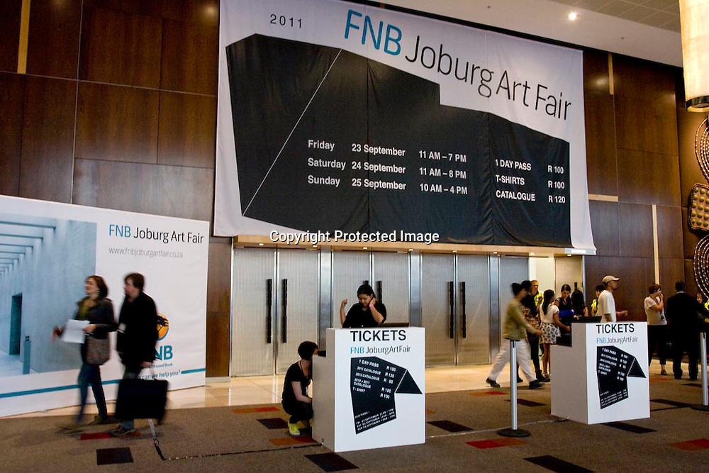 FNB Joburg Art Fair opening, 22 September 2011, Sandton Convention Centre, Johannesburg.