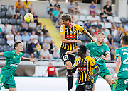GOTHENBURG, SWEDEN - JULY 19: Johan Hammar of BK Hacken shoots a header during the UEFA Europa League Qualifier match between BK Hacken and FK Liepaja at Bravida Arena on July 19, 2018 in Gothenburg, Sweden. Photo by Nils Petter Nilsson/Ombrello ***BETALBILD***
