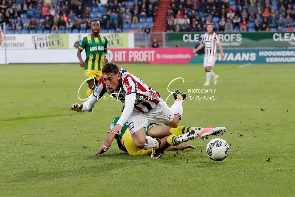 Trevor David of ADO Den Haag, Kostas Tsimikas of Willem II