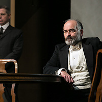 Waste by Harley Granvelle Barker;<br /> Directed by Roger Michell;<br /> Louis Hilyer as Russell Blackborough;<br /> Stephen Rashbrook as Edmunds;<br /> Lyttelton Theatre, National Theatre, London, UK;<br /> 9 November 2015