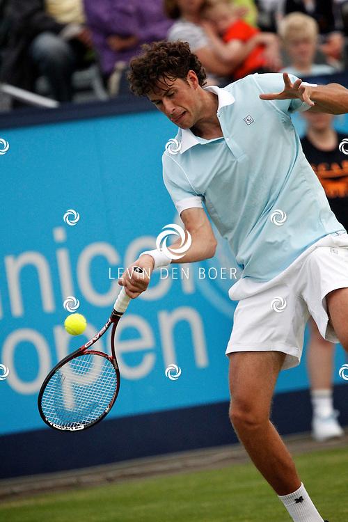 ROSMALEN - Op de Unicef Open is dit de wedstrijd tussen Marcos Baghdatis en Robin Haase.  Met op de foto tennisser Robin Haase. FOTO LEVIN DEN BOER - PERSFOTO.NU