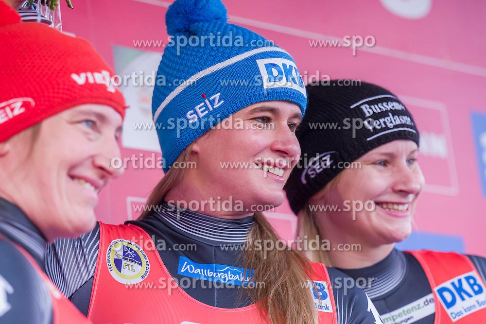 26.11.2016, Winterberg, GER, Viessmann Rennrodel Weltcup, Winterberg, Damen, Einsitzer, im Bild Tatjana Huefner, Natalie Geisenberger, Dajana Eitberger GER // during women's single seater of Viessmann Luge World Cup. Winterberg, Germany on 2016/11/26. EXPA Pictures &copy; 2016, PhotoCredit: EXPA/ Rolf Kosecki<br /> <br /> *****ATTENTION - OUT of GER*****