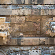 Detail of structures at Teotihuacan archeological site, Mexico