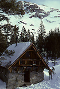 Pear lake ranger station, Cabin, Winter, Sequoia and Kings Canyon National Parks, California