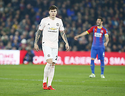 February 27, 2019 - London, England, United Kingdom - Manchester United's Victor Lindelof.during English Premier League between Crystal Palace and Manchester  United at Selhurst Park stadium , London, England on 27 Feb 2019. (Credit Image: © Action Foto Sport/NurPhoto via ZUMA Press)