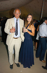 The MARQUESS OF READING and his daughter LADY NATASHA RUFUS-ISAACS at the Tatler Summer Party 2006 in association with Fendi held at Home House, Portman Square, London W1 on 29th June 2006.<br />