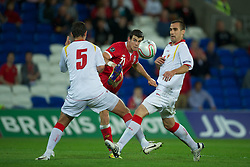 02.09.2011, Cardiff City Stadium, Cardiff, WAL, UEFA Euro 2012, Qualifier, Wales vs Montenegro, im Bild Wales' Gareth Bale in action against Montenegro during the UEFA Euro 2012 Qualifying Group G match at the  Cardiff City Stadium, EXPA Pictures © 2011, PhotoCredit: EXPA/ Propaganda/ D. Rawcliffe *** ATTENTION *** UK OUT!
