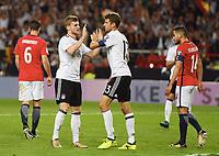 3:0 TorJubel v.l. Torschuetze Timo Werner, Thomas Mueller  (Deutschland)<br /> Stuttgart, 04.09.2017, Fussball, WM-Qualifikation,<br /> Tyskland - Norge <br /> <br /> Norway only