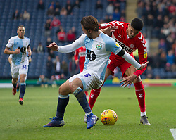 Ashley Fletcher of Middlesbrough (R) and Bradley Dack of Blackburn Rovers in action - Mandatory by-line: Jack Phillips/JMP - 17/02/2019 - FOOTBALL - Ewood Park - Blackburn, England - Blackburn Rovers v Middlesbrough - English Football League Championship